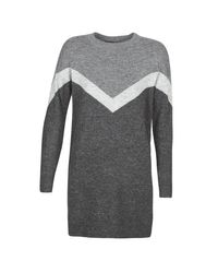 Vero Moda Korte Jurk Vmluna in het Gray