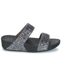 Fitflop Glitterball Slide Women's Mules / Casual Shoes In Black
