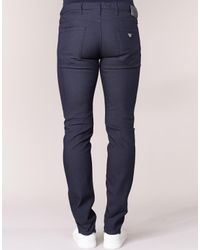 Armani Jeans Gourna Men's Trousers In Blue for men
