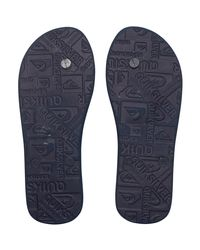 Quiksilver Blue Molokai Everyday Stripe - Chancletas Men's Flip Flops / Sandals (shoes) In Multicolour for men