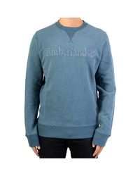 Timberland Sweatshirthirt Taylor Rvr Crew A1rkoh13 Orion Blue Men's Sweater In Blue for men