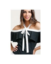Infinie Passion - Black Fluid Top 00w039095 Women's Blouse In Black - Lyst