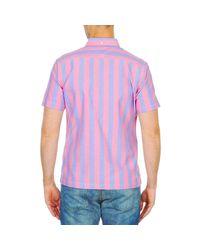 Ben Sherman - Bema00487s Men's Short Sleeved Shirt In Pink for Men - Lyst