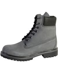 Timberland Gray Shoes A1m2m Premium Boot Forged Iron Women's Mid Boots In Grey