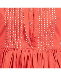 Manoush - Pompom Women's Dress In Orange - Lyst