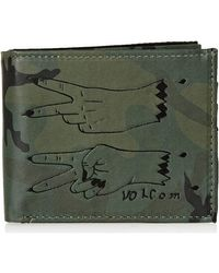 Portefeuille Radiator 3F PU Wallet Volcom en coloris Green