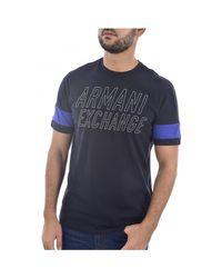 T-shirt Tee Shirt Coton Avec Logo Armani pour homme en coloris Blue