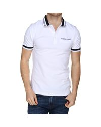 Polo manches courtes Polo Guess pour homme en coloris White