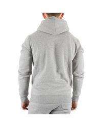 Fila Vintage Gray Men's Tommaso Zip Hoodie, Grey Men's Sweatshirt In Grey for men