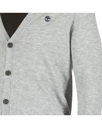 Timberland Gray Jones Brook Cardigan Men's Cardigans In Grey for men