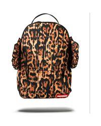 Sprayground Leopard Drip Wings Backpack Men's Backpack In Orange for men