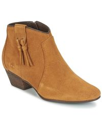 Timberland Brown Carleton Tassle Boot Low Ankle Boots