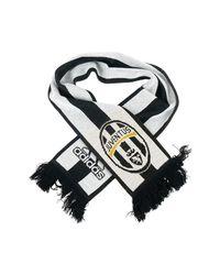 Adidas Originals Kibica Juventus Football Club Unisex Women's Scarf In Black