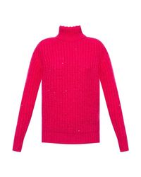 MAILLE FEMME Pull Saint Laurent en coloris Pink