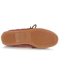 Sebago Docksides Shearling Women's Boat Shoes In Red