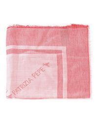 2V8420/A2RX femmes Echarpe en rouge Patrizia Pepe en coloris Red