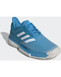 Chaussure SoleCourt Clay hommes Chaussures en bleu Adidas pour homme en coloris Blue