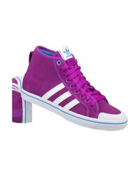 Adidas Honey Stripes Mid W Women's Shoes (high-top Trainers) In Blue