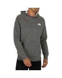 The North Face Sweatshirt Raglan Red Box Pullover Hoodie in Gray für Herren