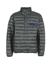 Patagonia | Gray Down Snapt Pullover Men's Jacket In Grey for Men | Lyst