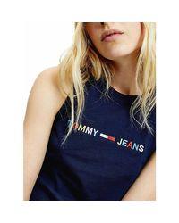 TJW LOGO TANK DRESS Tommy Hilfiger de color Blue