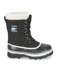 Sorel Snowboots Caribou in het Black