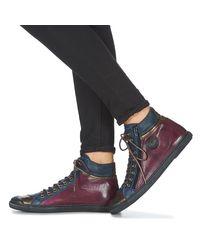 Pataugas Hoge Sneakers Bono in het Purple