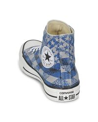 Converse Blue Chuck Taylor All Star Washed Flag Print Hi Shoes (high-top Trainers)