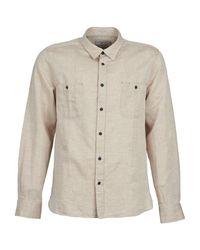 Chevignon Natural Cl Glassy Men's Long Sleeved Shirt In Beige for men