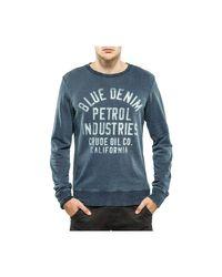 Sweater R neck Sweat-shirt Petrol Industries pour homme en coloris Blue