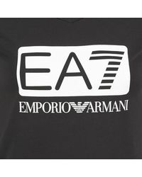 EA7 - Founarola Women's T Shirt In Black - Lyst