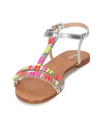 Dune Metallic Nimbo Women's Sandals In Silver