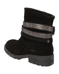 Escarpins noir daim AE887 Boots Guess en coloris Black