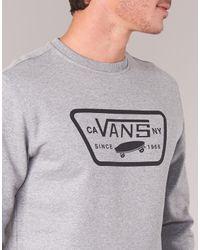 Vans Gray Full Patch Crew Men's Sweatshirt In Grey for men