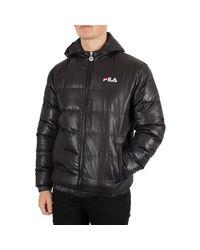 Fila Vintage Men's Owen Puffa Jacket, Black Men's Jacket In Black for men