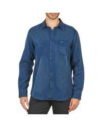 Façonnable | Permala Men's Long Sleeved Shirt In Blue for Men | Lyst