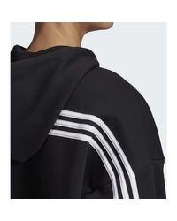 Sweat-shirt Veste à capuche Must Haves 3-Stripes Adidas en coloris Black