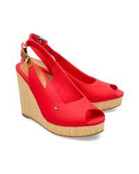 Xlg Sandales Tommy Hilfiger en coloris Red
