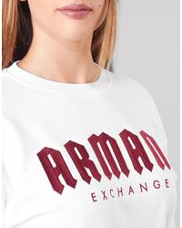 Armani Exchange Sweater 6gym01-yje5z-7104 in het White
