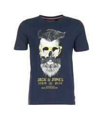 Jack & Jones Criptic Originals Men's T Shirt In Blue for men