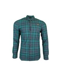 Farah Waithe Slim Ls Bd Shirt Men's Long Sleeved Shirt In Blue for men