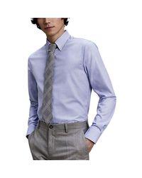 Chemise manches longues col américain hommes Chemise en bleu Tommy Hilfiger pour homme en coloris Blue