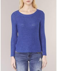 ONLY - Blue Geena Women's Sweater In Multicolour - Lyst