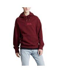 Felpa bordeaux 72632-0014 Sweat-shirt Levi's pour homme en coloris Red
