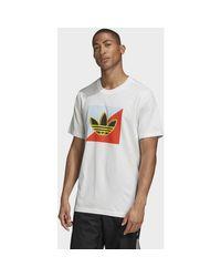 T-shirt T-shirt Diagonal Logo Adidas pour homme en coloris White