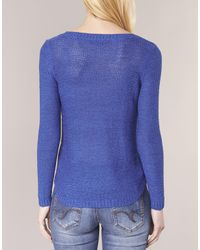ONLY - Blue Geena Women's Sweater In Multicolour - Lyst