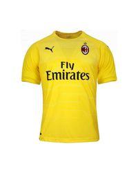 PUMA 2018-2019 Ac Milan Home Ss Goalkeeper Shirt Men's T Shirt In Yellow for men