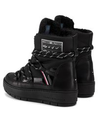 FW0FW04574 Bottines Tommy Hilfiger en coloris Black