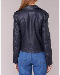 Esprit - Vestarola Women's Leather Jacket In Blue - Lyst