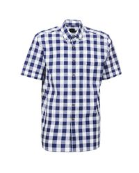 Pierre Cardin Adah Men's Short Sleeved Shirt In Blue for men
